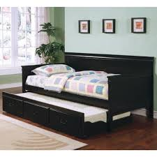 black louis philippe twin twin trundle bed with bunkie mattresses
