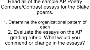 compare and contrast sample essay compare and contrast essay with blake s chimney sweeper poems read all of the sample ap poetry compare contrast essays for the blake poems