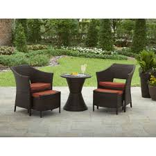 Patio Chairs With Ottoman Better Homes And Gardens Mira Bay 5 Piece Leisure Set Walmart Com