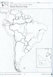 Latin America Map Blank by Blank South America Map Poster