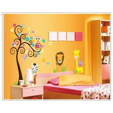 photo frame tree wall sticker wallstickerscool com au wall cartoon scroll tree animals giraffe lion and friends