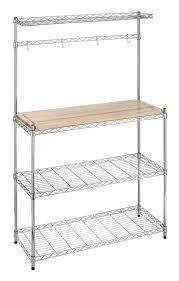 Bakers Racks For Kitchens Whitmor Supreme Chrome Baker U0027s Rack Walmart Com