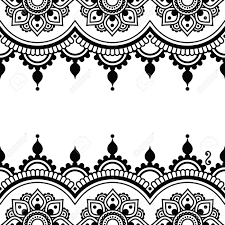 mehndi indian henna design greetings card lace ornament