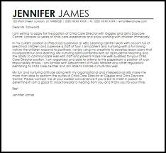 Resume For Child Care Director Child Care Cover Letter Youth Care Cover Letter Example