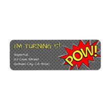 superhero shipping address u0026 return address labels zazzle