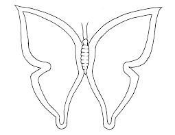 butterfly outline coloring page free coloring pages