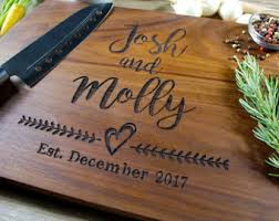 personalized wedding cutting board personalized wedding gift etsy