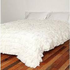 tiered white ruffle duvet