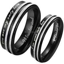 wedding bands for couples stainless steel you are my only promise ring