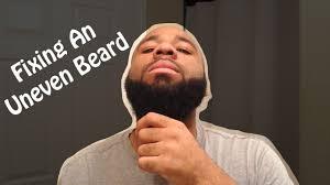 fixing an uneven beard youtube