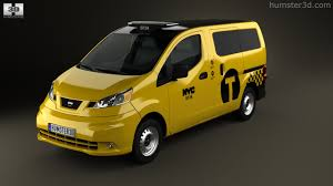 nissan nv200 taxi 360 view of nissan nv200 new york taxi 2014 3d model hum3d store