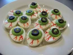 ghoulish deviled eggs community chickens