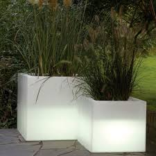 serralunga cubotti illuminated outdoor planter lighted planter