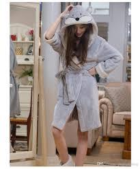 Full Length Bathrobe 2017 Wholesale Knee Length Winter Worm Flannel Turn Down