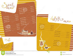 coffee shop menu template template menu for coffee shop stock image image 18200521