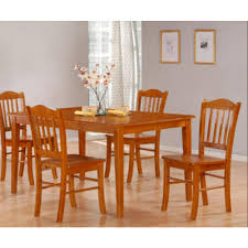 oak dining room set boraam 5 oak dining set 80136 the home depot