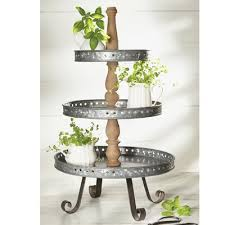 galvanized cake stand galvanized tin server tiered stand reviews birch