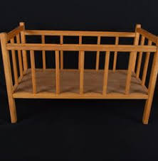 vintage wrought iron crib for the out doors if i have guests over