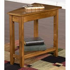 rustic wedge end table designs 2226rb sedona rustic birch chair side table