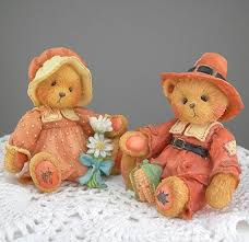 thanksgiving figures cherished teddies figures thanksgiving pilgrim bears dated 1993