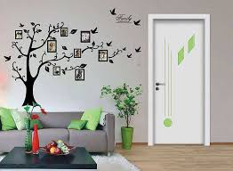 livingroom wall decor valuable stickers for wall decor photo frame tree flowers decals