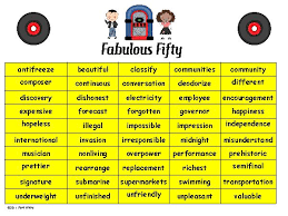 fabulous fifty decoding words using prefixes suffixes and fifty