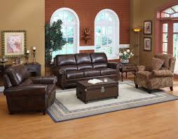 Brown Leather Sofa Sets Furnitures Classy Full Grain Leather Sofa For Luxury Living Room