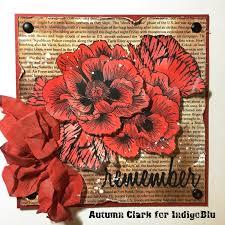 sewpaperpaint blazing poppies veteran u0027s day card