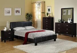 Black Leather Platform Bed Uptown Espresso Leather Platform Bed Euro Style Slats