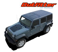 2017 jeep wrangler outfitter 2007 2017 jeep wrangler hood blackout vinyl graphics