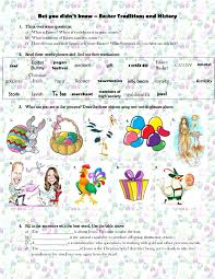 worksheet bet you didn t easter traditions and history