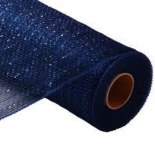 royal blue ribbon deco poly mesh navy with royal blue foil 10 ribbon