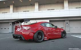 nissan 350z xxr 527 rocket bunny red scion fr s widebody on enkei wheels car tuned