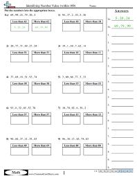 value u0026 place value worksheets