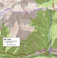 Yale Map 14ers Com U2022 Mt Yale Route Description East Ridge