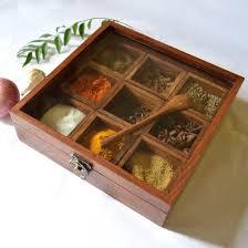 amazon com etsibitsi wooden spice box spice rack masala box