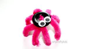 button spider easy kids craft arty crafty kids