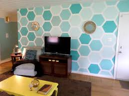 Wall Paintings Designs Remodelaholic Diy Ombre Painted Hexagon Accent Wall