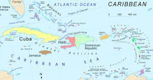 carribbean map caribbean map