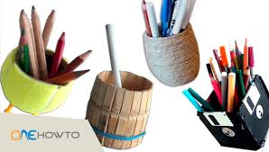 4 diy pencil holders crafts with waste material youtube