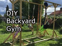 homemade backyard gym how to make it simple youtube