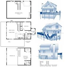 24x34 cabin w full basement plans package blueprints material