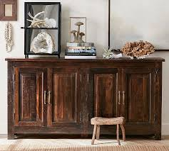 Reclaimed Wood Vanity Table Bowry Reclaimed Wood Media Console Pottery Barn