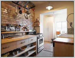 faux brick kitchen backsplash faux brick backsplash home design ideas
