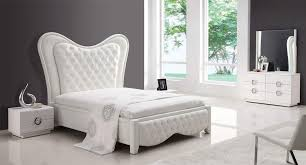 Beautiful Modern White Bedroom Sets Amore White Premium Bedroom - Modern white leather bedroom set