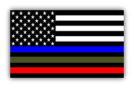 Fold Flag Military Style Amazon Com Police Military And Fire Thin Line Usa Flag Decal