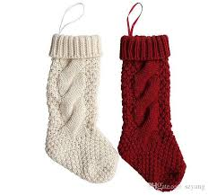 Christmas Stocking Tree Decoration by Christmas Stocking Long Crochet Knitted Xmas Stocking Xmas Tree