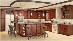 dark maple kitchen cabinets with eye valance in valrico fl cheap