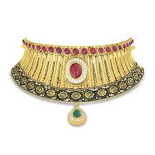 choker gold necklace images Kamakshi mudhra gold choker necklace online jewellery shopping jpg