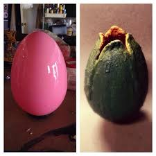 use giant plastic easter egg to create